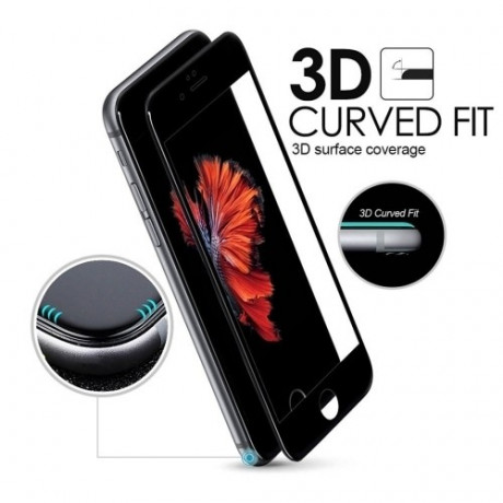 Защитное 3D Стекло на весь Экран Enkay 0.26mm 9H Titanium Alloy Серебристое для iPhone SE 2020/8/7