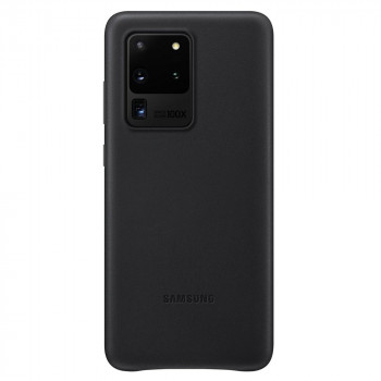 Оригинальный чехол Samsung Leather Cover для Samsung Galaxy S20 Ultra black