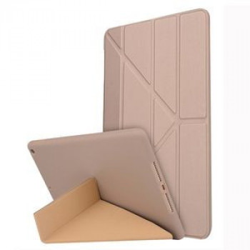 Чехол-книжка Solid Color Trid-fold Deformation Stand на iPad 8/7 10.2 (2019/2020) -золотой