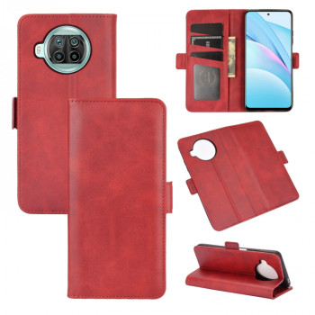 Чехол-книжка Dual-side Magnetic Buckle для Xiaomi Mi 10T Lite - красный
