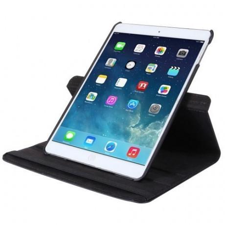 Кожаный Чехол 360 Degree Rotation Litchi Black для iPad 9.7 2017/2018