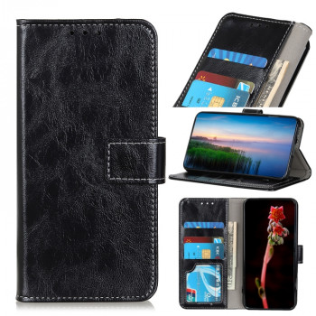 Чехол-книжка Magnetic Retro Crazy Horse Texture на Galaxy A41-черный