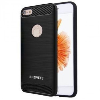 Противоударный чехол HAWEEL на iPhone 6 Plus  6s Plus Brushed Carbon Fiber Texture