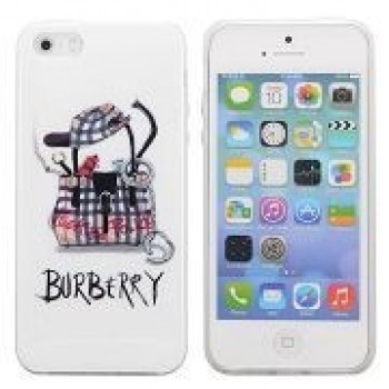 TPU Чехол Fashion Bag Pattern Burberry для iPhone 5, 5S, SE