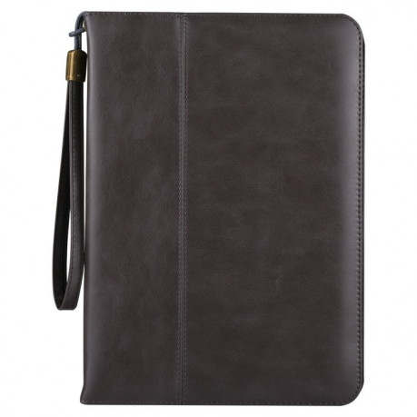 Кожаный чехол Premium Leather Retro Cowhide Texture Holder Card Slots Sleep/Wake-up серый для iPad 9.7 2017/2018/Air/Air 2/Pro 9.7