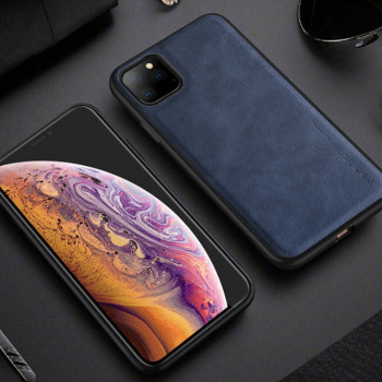 Ультратонкий чехол X-level Earl III Series Leather Texture All-inclusive на  iPhone 11 Pro Max -синий
