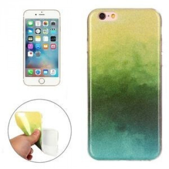 TPU Чехол IMD Color Fades Glitter Powder Yellowgreen для iPhone 6/ 6s