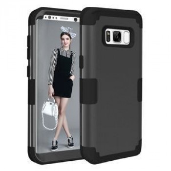 Противоударный Чехол Dropproof 3 in 1 Silicone sleeve Black для Samsung Galaxy S8 + / G9550