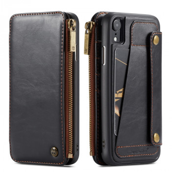 Чехол-кошелек CaseMe 011 Series Zipper Wallet Style на iPhone XR - черный
