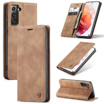 Чехол-книжка CaseMe-013 Multifunctional на Samsung Galaxy S21 Plus - коричневый