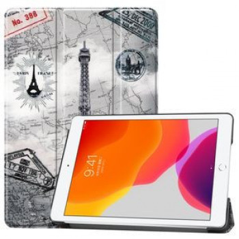 Чехол Custer Three-folding Sleep/Wake-up Eiffel Tower на iPad 8/7 10.2 (2019/2020)