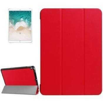 Кожаный Чехол Litchi Texture 3-folding Smart Case Red для iPad Pro 10.5