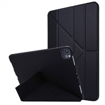 Чехол- книжка Solid Color Trid-fold Deformation Stand на iPad Pro 11 (2020) - черный