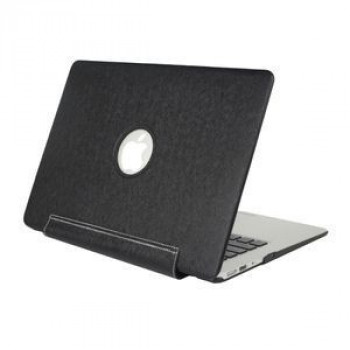 Нецарапающийся Чехол Silk Texture United PU Black для Macbook Pro 15.4
