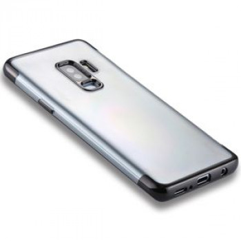 Чехол Three Sections Electroplating Side на Samsung Galaxy S9 Plus -  черный