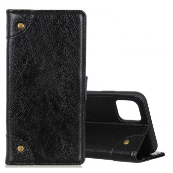 Чехол-книжка Copper Buckle Nappa Texture на Samsung Galaxy Note10 Lite / A81-черный