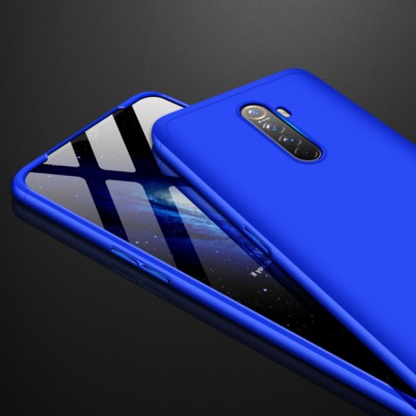 3D чехол GKK Three Stage Splicing Full Coverage на Realme X2 Pro - синий