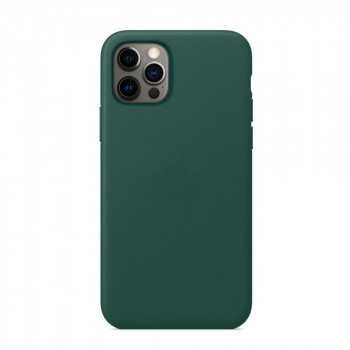 Кожаный Чехол Leather Case MagSafe Forest Green для iPhone 12 Pro Max