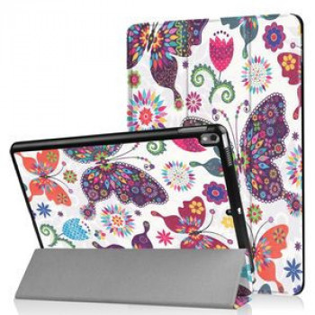 Чехол- книжка Coloured Drawing Pattern на  iPad Air 2019 10.5- Butterfly Pattern