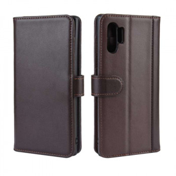 Кожаный чехол-книжка Magnetic Buckle Wallet Style Genuine Leather на Samsung Galaxy Note10+ Plus