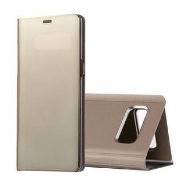 Чехол- книжка Clear View на Samsung Galaxy Note 8 Electroplating Mirror (Gold)