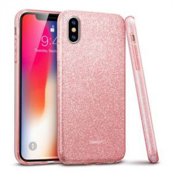 Чехол ESR Makeup Series  Glitter Case на  iPhone X -розовое золото