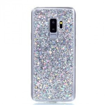 TPU чехол на Samsung Galaxy S9+/G965 Glitter Powder серебристый