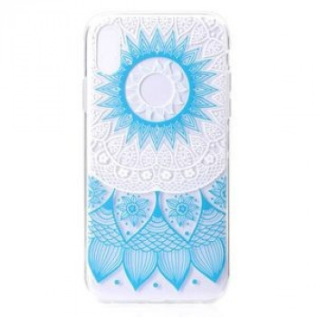 Силиконовый чехол Blue Flower Pattern Colorful Painted на iPhone XR
