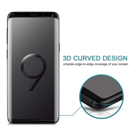 Защитное 3D стекло на Samsung Galaxy S9/G960 9H Surface Hardness  Anti-scratch Non-full Screen HD (Black)