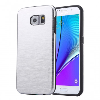 Металлический Чехол Motomo Brushed Texture Metal Silver для Samsung Galaxy Note 5