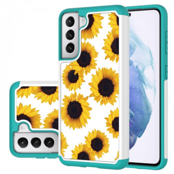 Противоударный чехол Coloured Pattern на Samsung Galaxy S21 - Sunflower