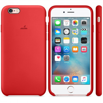 Силиконовый чехол Silicone Case Product Red для iPhone 6 Plus/6S Plus