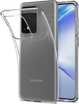 Оригинальный чехол Spigen Liquid Crystal для Samsung Galaxy S20 Ultra Crystal Clear