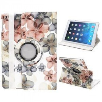 Чехол 360 Rotating Stylish Flowers White для iPad Air