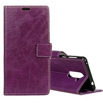 Кожаный чехол- книжка на Samsung Galaxy S9+/G965 Retro Crazy Horse Texture with Absorption(Purple)