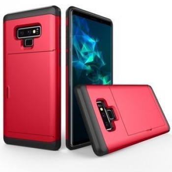 Противоударный чехол Shockproof Rugged Armor Protective Case на Samsung Galaxy Note 9 красный