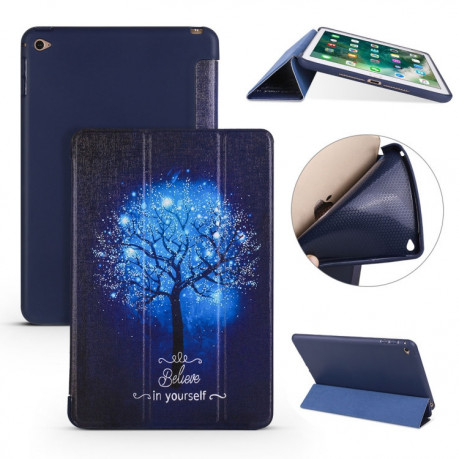 Чехол-книжка Blue Tree Pattern на iPad Mini 2019