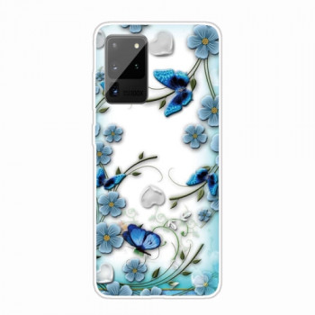 Силиконовый чехол Painted на Samsung Galaxy Note 20 - Chrysanthemum Butterfly