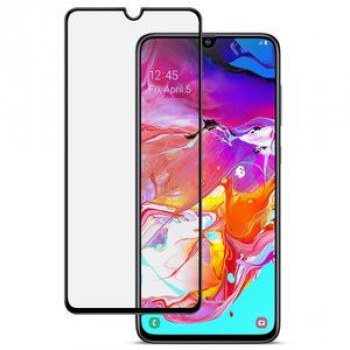 Защитное стекло IMAK 9H Full Screen Tempered Glass Film Pro+ Version на Samsung Galaxy A70 -черное
