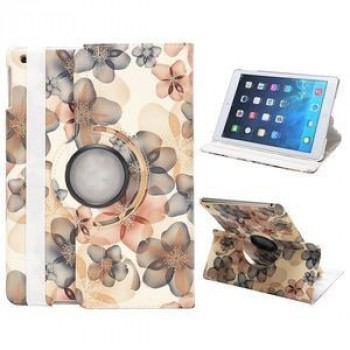 Чехол 360 Rotating Stylish Flowers Beige для iPad Air