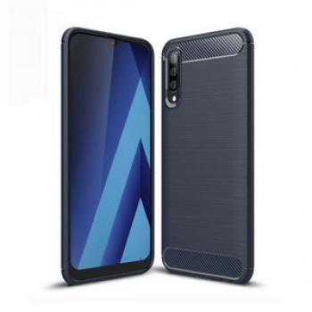 Чехол Brushed Texture Carbon Fiber на Samsung Galaxy A50/A30s/A50s-нави