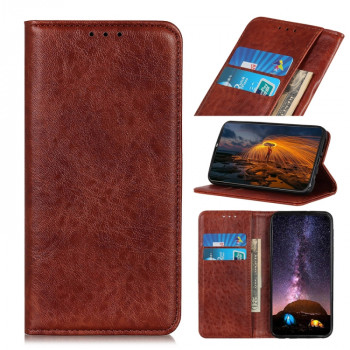 Чехол-книжка Magnetic Retro Crazy Horse Texture на Xiaomi Redmi Note 9S - коричневый
