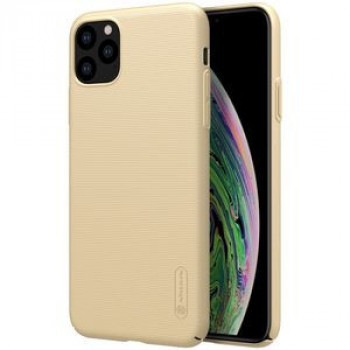 Чехол NILLKIN Frosted Shield Concave-convex Texture PC на iPhone 11 Pro Max - золотой