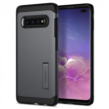 Оригинальный чехол Spigen Tough Armor для Samsung Galaxy S10+ Plus Graphite Grey