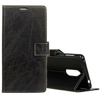 Кожаный чехол- книжка на Samsung Galaxy S9+ /G965 Retro Crazy Horse Texture with Absorption (Black)