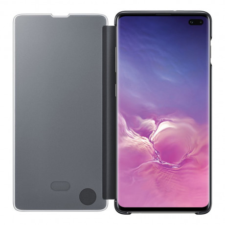 Оригинальный чехол-книжка Samsung Clear View Cover для Samsung Galaxy S10 Plus black (EF-ZG975CBEGRU)