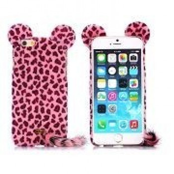 Чехол Leopard Cat Furry Fur Pink для iPhone 6, 6S