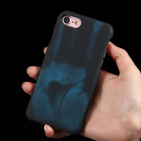 Термочехол  на  iPhone 8 / 7  Heat Sensitive Phone Case Silicone  Protective Case Back Cover черный