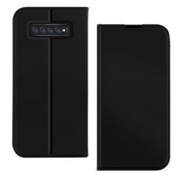 Чехол-книжка DZGOGO ISKIN Series Slight Frosted на Samsung Galaxy S10/G973-черный