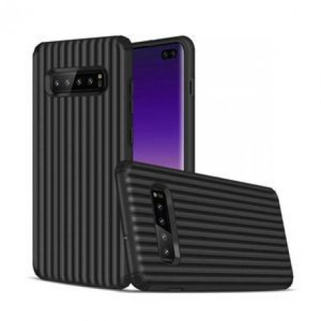 Противоударный чехол Suitcase Shaped UV Varnish Process на Samsung Galaxy S10+ / S10 Plus- черный